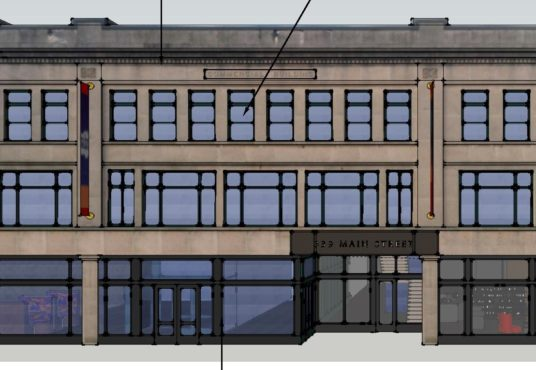 339 Main Street facade mock up commercial real estate broker