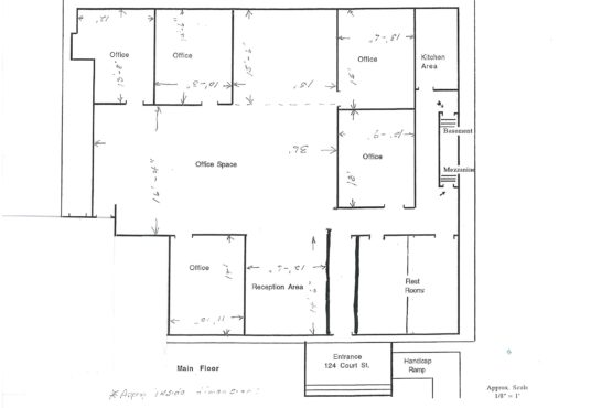 124 court middletown commercial real estate floor plan